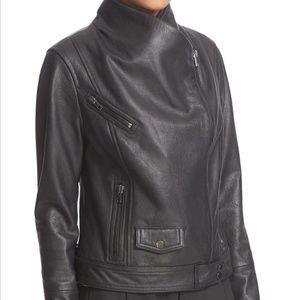 Vince   Lambskin Modern Asymmetrical Moto Jacket
